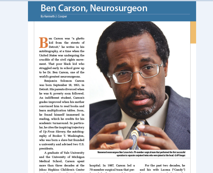 ben carson inspiration essay Essay carson manor study objective in the carson manor study is to reduce cost on a per-bed basis to be in-line or near the state average psd's role to assist carson manor in achieving cost reduction is by recommending a consultant firm that will provide carson manor the specific areas for improvement and methods to implement the changes.