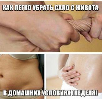 сходит жир живота