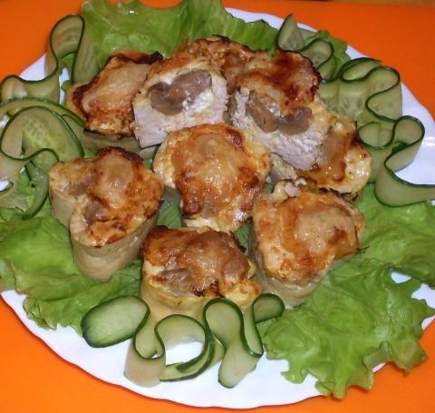 Куриные корзиночки с начинкой рецепт